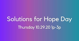 Solutions for Hope Day 2020