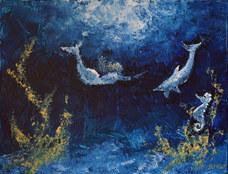 """Mermaid's Dream"" Acrylic 30x40cm SOLD"