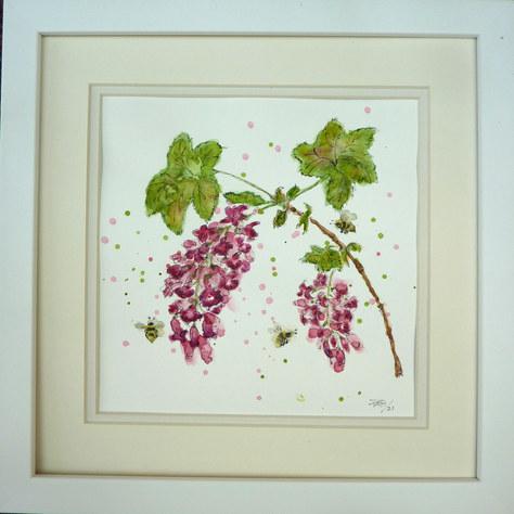 """Flowering Currant"" Watercolour 30X30cm £50"