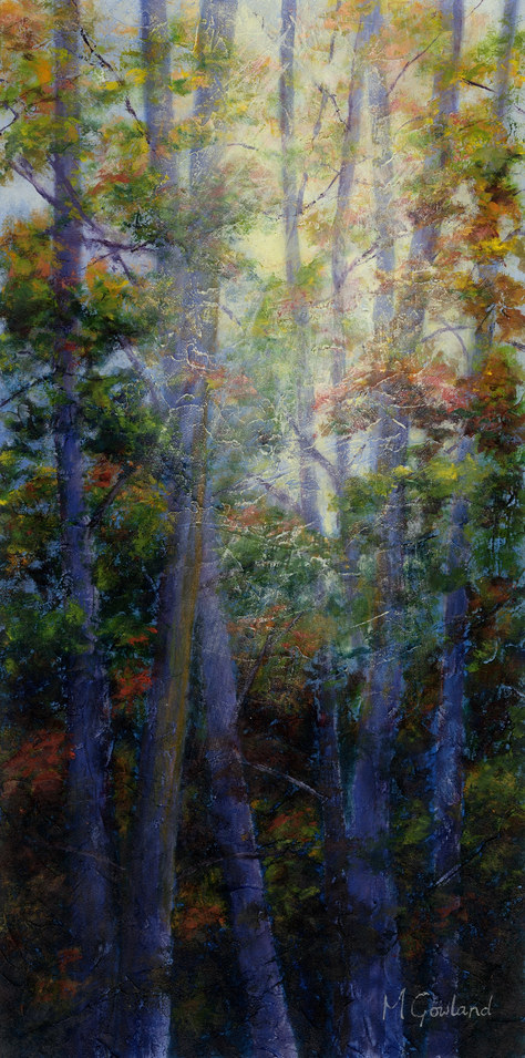 """""""Sunlight through the Forest"""" Acrylic 12""""x20"""" SOLD"""