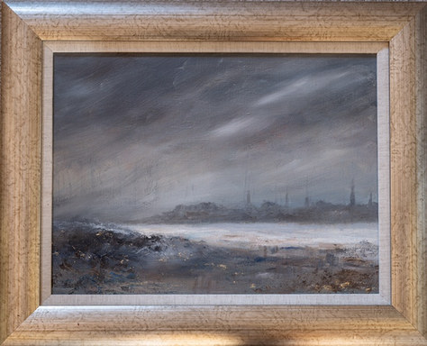 """Distant Skyline"" 21""x17"" Oil £150"