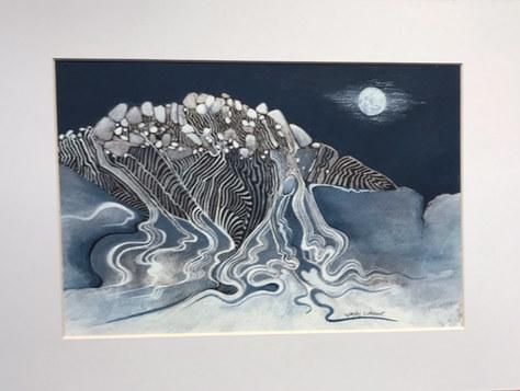 """Streaming"" Watercolour & Gouache 21""x17"" £160"