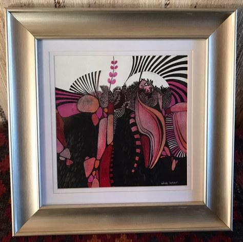 """A Worm's Eye View"" Watercolour & Ink 15""x15"" £120"