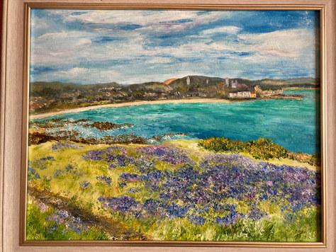 """Coastal path bluebells"" Oil 23""x19"" £110"