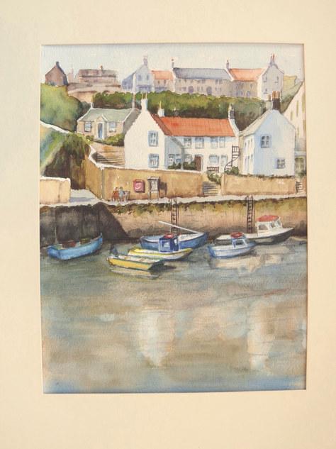 """""""Harbour View"""" Watercolour 14""""x17.5"""" £70"""