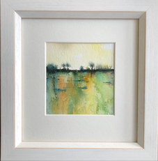 """""""Hedgerow at Sunset"""" Watercolour 235mmx245mm £35"""