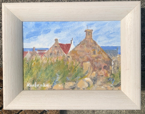 Pittenweem Rooftops - Oil _ 23cmx18cm - SOLD