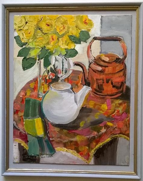 """Yellow Roses"" Oil 17""x14"" £200"