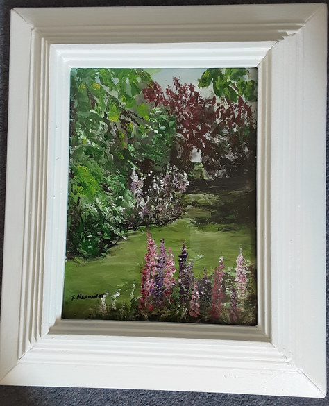 "Summer ""Garden"" Oil 14""x16"" £95"