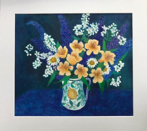 """""""Summer Bouquet"""" Acrylic 23""""x20"""" NFS"""