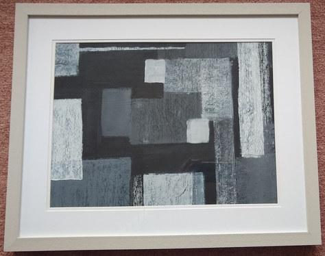 "Abstract Art - Acrylic - 21""x17"" - £250"