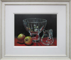 """""""Glass with Apples"""" Oil 18.5""""x16"""" SOLD"""