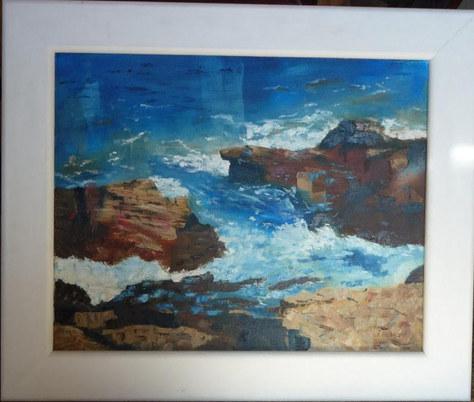 """Rough Coast"" Oil 24""x20"" £140"