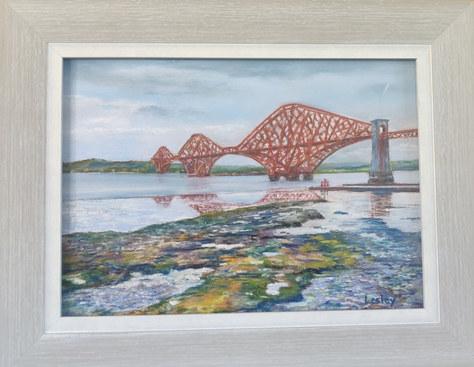 """First Forth Bridge"" Pastel 40x31cm SOLD"