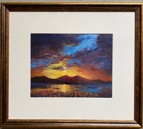 """Highland Sunset - Acrylic - 16.5""""x14"""" - £80"""