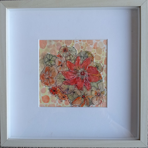 """Floral Collage"" Mixed Media 10""x10"" £30"