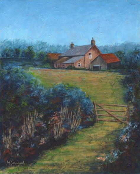 """""""The Old Farmhouse"""" Acrylic 13""""x15"""" £80"""