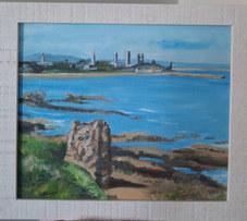 """Maiden Rock, St Andrews"" 14""x12"" Oil £65"