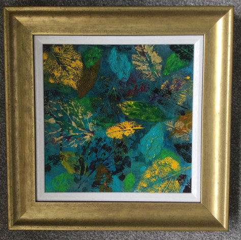 """Leaves of Gold -   Mixed Media -   14""""x14"""" - £130"""