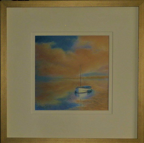 """""""Reflections"""" Pastel 17""""x17"""" £145"""