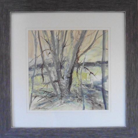 """Through the Trees"" Acrylic 16.5""x16.5"" £80"