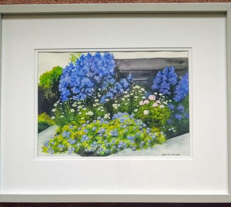 """Corner of Painter's Garden - W-C - 21""""x17"""" - SOLD"""