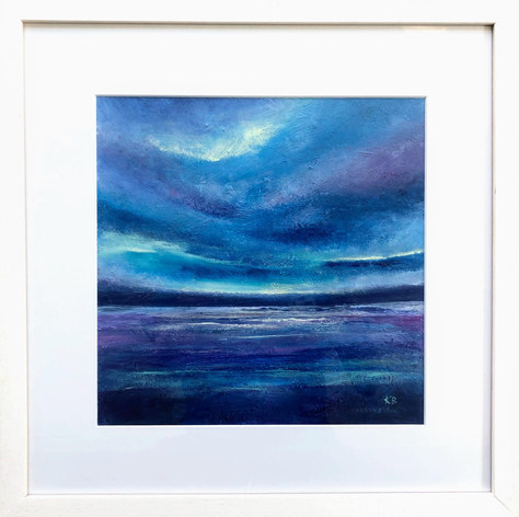 """After the Storm, W. Coast, Scotland"" Acrylic 44x44cm SOLD"