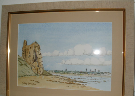 """""""The Maiden Rock, St. Andrews"""" 16""""x13"""" Watercolour £60"""
