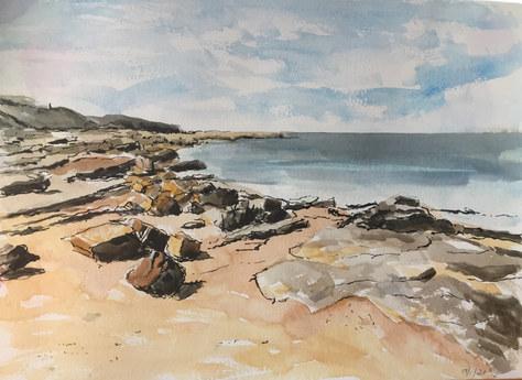 """Near Kingsbarns"" Watercolour 16""x19.5"" £75"