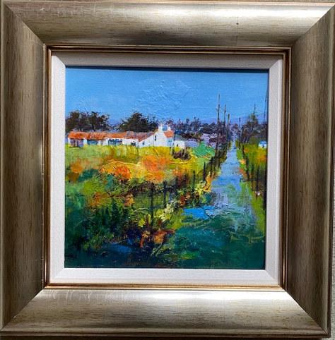 """The Old Farmstead - Acrylic - 16""""x16"""" - £120"""