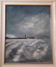 """Stormy St Andrews Bay"" Oil 23""x19"" £120"