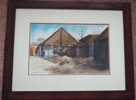 "The Old Barn, Balmerino  -  W-C - 20""x16"" - £300"