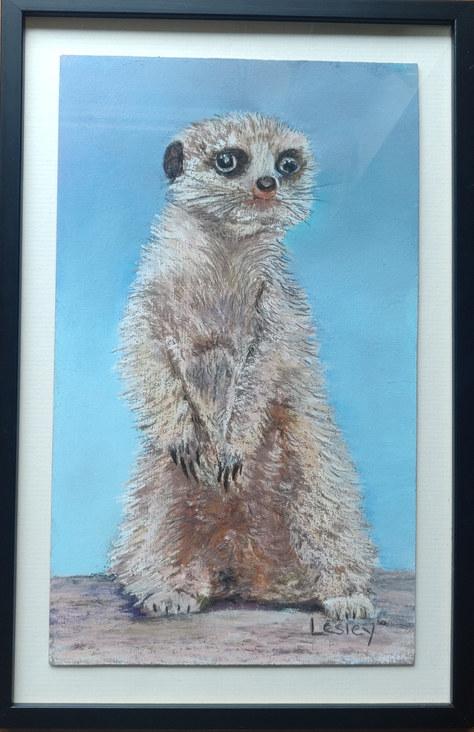 """""""Meerkat Pastel"""" 21x32cm £55"""