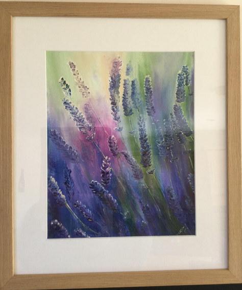 """""""Lavender Lights"""" Oil 18""""x20"""" £80"""