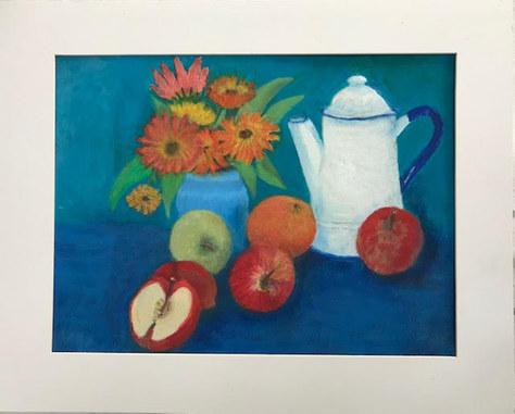 """Apples & Marigolds"" Oil 21""x17"" £75"