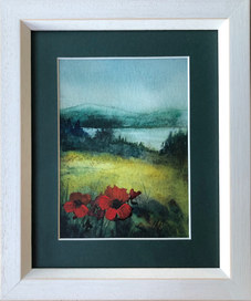 """""""Red Poppies"""" Watercolour and Gouache 25cmX30cm SOLD"""