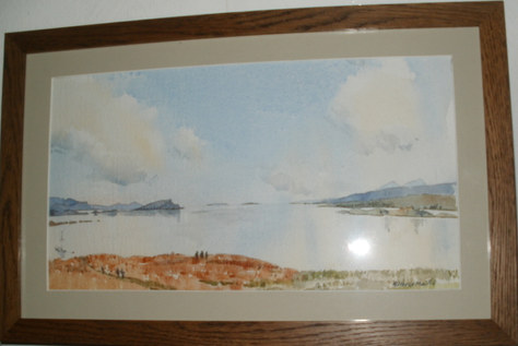 """""""View of Poolewe"""" 17""""x11"""" Watercolour £60"""