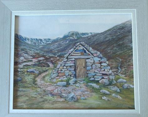 """Highland Bothy"" Pastel 47x39cm £110"