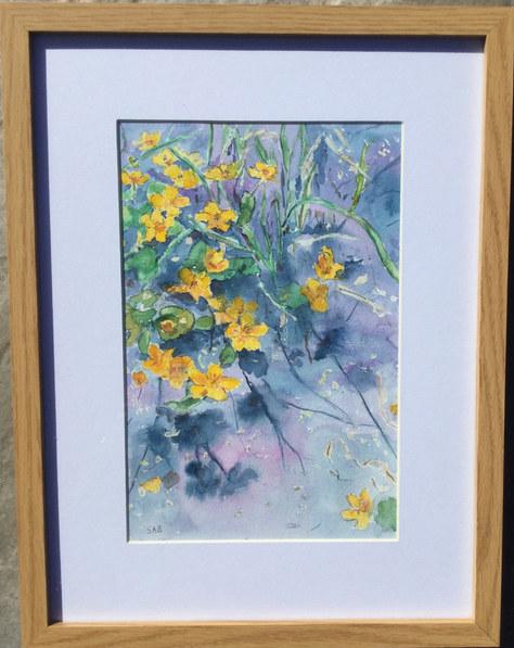 """""""A Splash of Gold"""" Watercolour 17""""x13"""" £45"""
