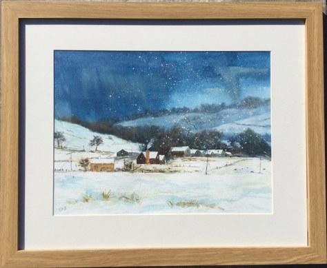 """A Winter's Storm"" Watercolour 22""x18"" £70"