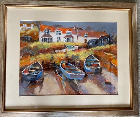 "White Cottage (after Liz Yule) - Acrylic - 22""x18"" - £220"