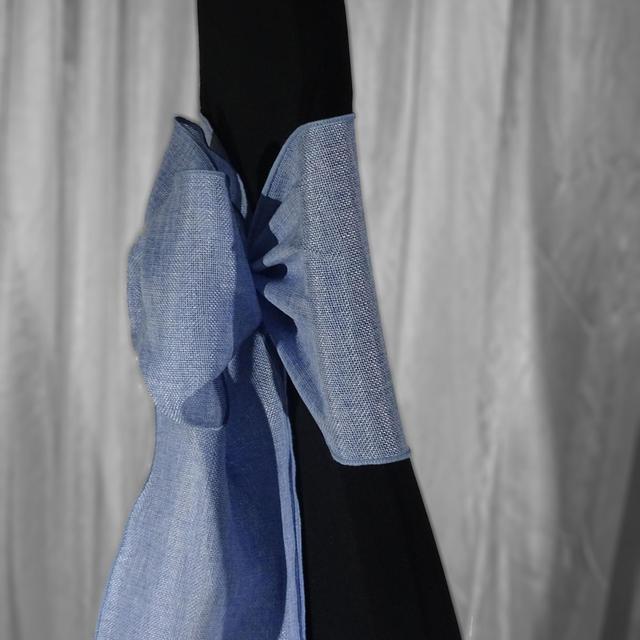 Blue Burlap Sash