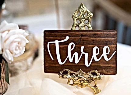 Easel table number for your venue stylist