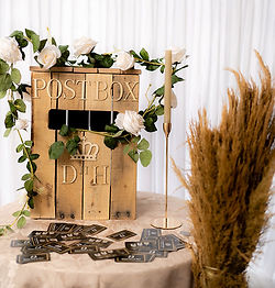 Handmade post box in easel and signs category