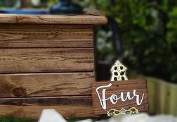 wooden planter for your venue decorations