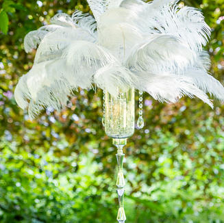 Ostrich Feathers Centrepiece