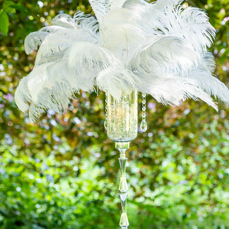 Ostrich Feathers Centrepiece