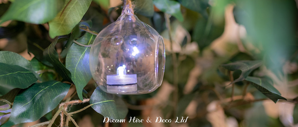 Tealight Hanging Glass Bauble