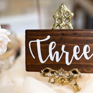 Brass Nickel Easel Table Number