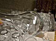 bud flower glass for reception styling